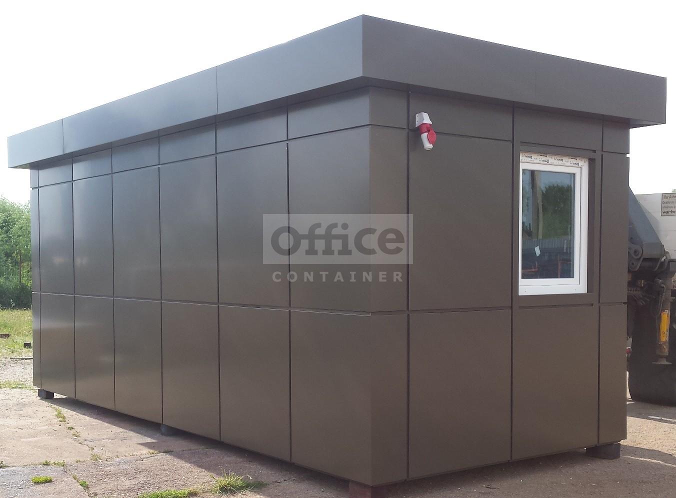 Container comercial 20 ft placat cu acubond culoare maro